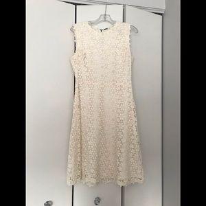 Ivory Lace Elie Tahari Dress size 10